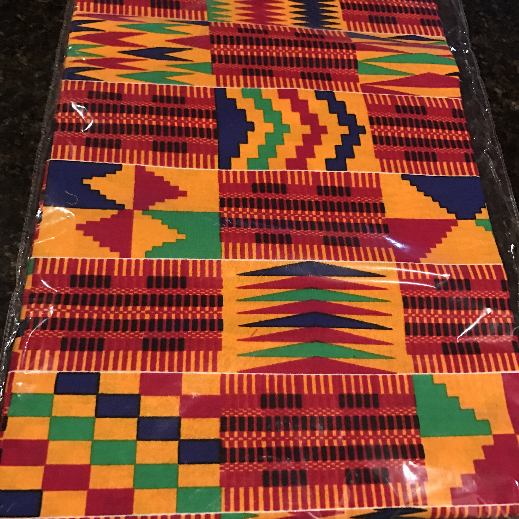 Ankara Fabric - Orange and Red Kente