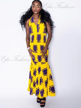 Soleil Yellow Fitted Dress