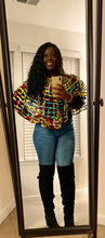 Ankara Webbed Cape