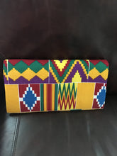 Yellow Red Green and Blue Kente Clutch