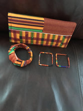 Kente Wallet Clutch with matching Bracelet and Earrings