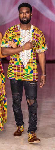 Bisa Kente Royalty Top