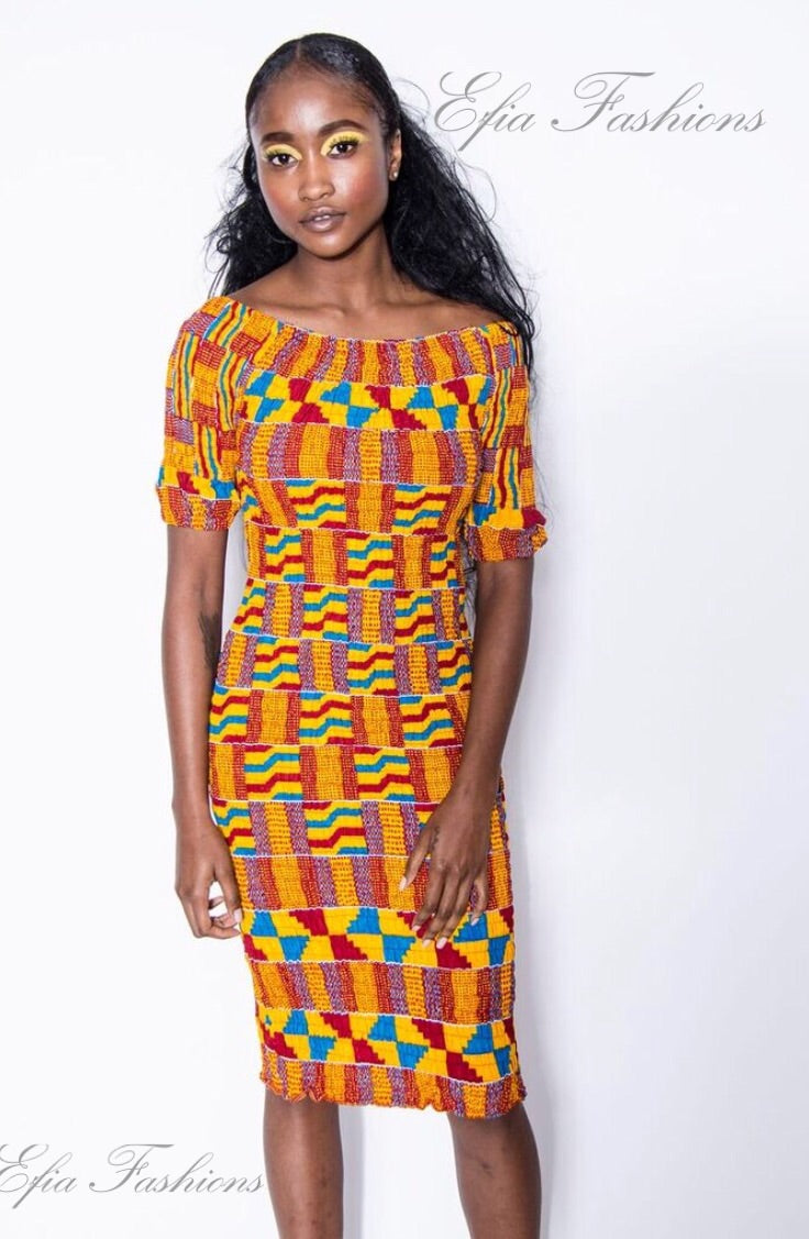 Sankofa Kente Fitted Dress