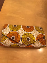 Yellow and Orange Ankara Waterfall Purse, Jewelry, and Headscarf Set