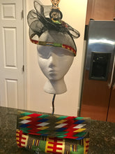 Small Kente Trim hat and purse set