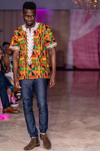 Yorboi Kente Royalty Top