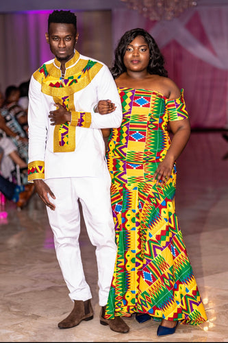 Kwabena Kente Royalty Top and Pant Set
