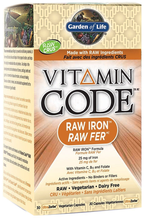 Garden of Life Vitamin Code - RAW Iron