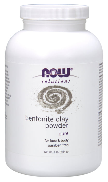 NOW Bentonite Clay Powder 454 g