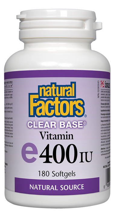 Natural Factors Vitamin E 400 IU Clear Base