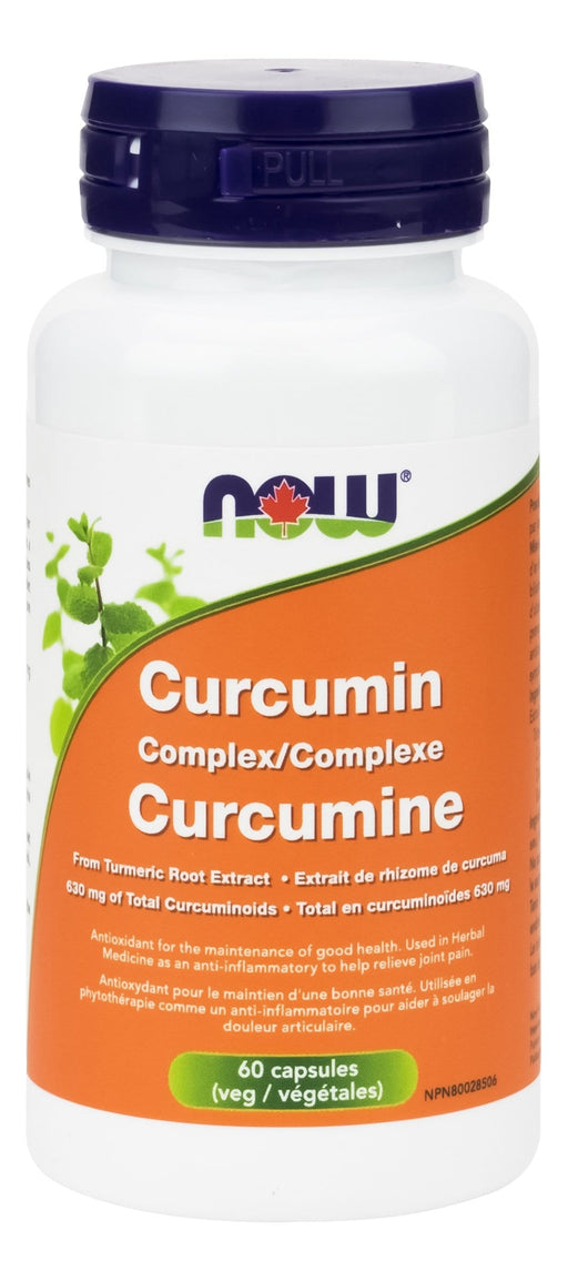 NOW Curcumin Complex (630mg curcuminoids) 60 V-Caps
