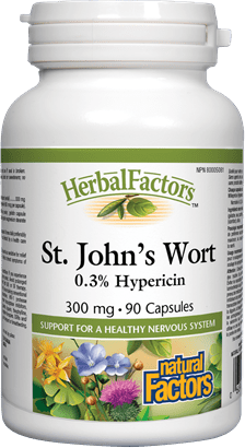 Natural Factors St. John's Wort Extract 300mg 90 Capsules