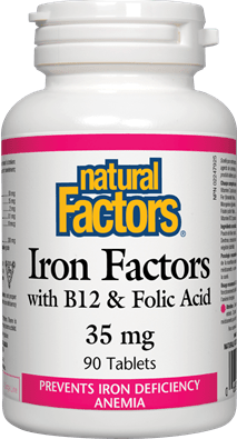 Natural Factors Iron Factors 35 mg 90 Tablets
