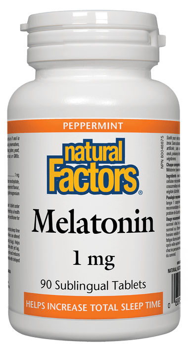 Natural Factors Melatonin 1 mg