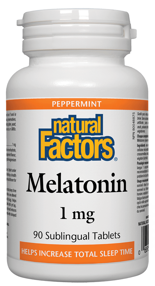 Natural Factors Melatonin 1 mg 90 Sublingual Tablets