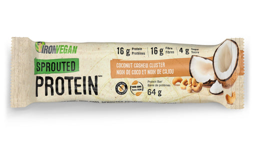 Iron Vegan Sprouted Protein Bar Coconut Cashew Cluster