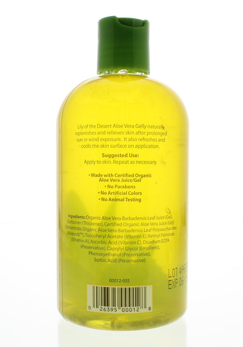 Lily of the Desert 99% Aloe Vera Gelly Soothing Moisturizer 12oz