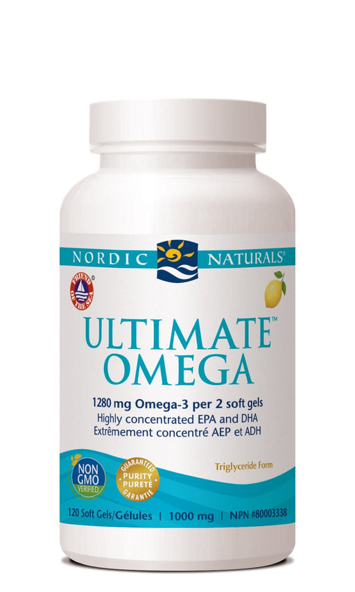 Nordic Naturals ULTIMATE OMEGA - Lemon Flavour 120 Softgels