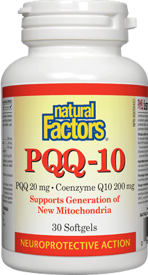 Natural Factors PQQ 20 mg · Coenzyme Q10 200 mg Softgels