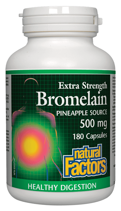 Natural Factors Bromelain 500 mg 180 Capsules