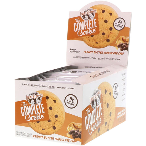 Lenny & Larry's The Complete Cookie Peanut Butter Chocolate Chip Box of 12 - 113 g Cookies