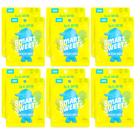 SmartSweets Sour Blast Buddies Box of 12