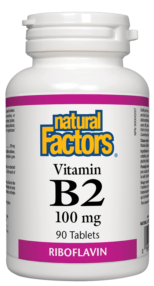Natural Factors B2 Riboflavin 100 mg 90 Tablets