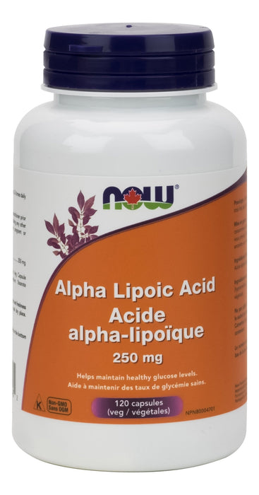 NOW Alpha Lipoic Acid 250mg 120 V-Caps