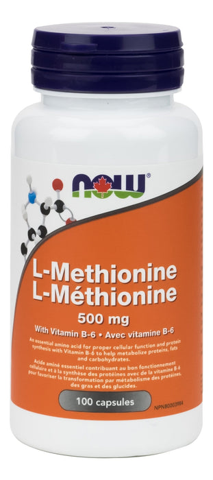 NOW L-Methionine 500 mg 100 Capsules