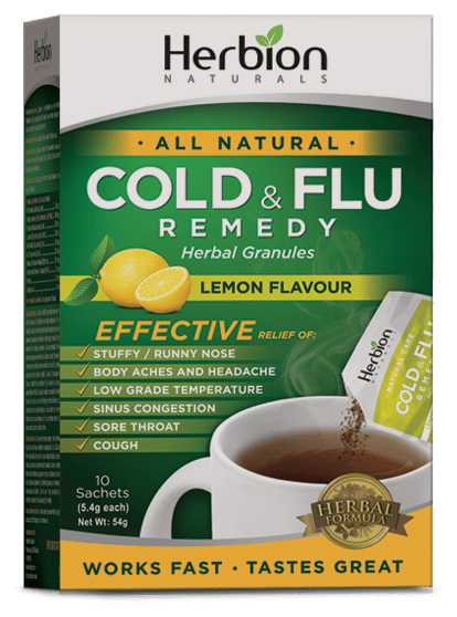 Herbion Naturals Cold & Flu Remedy Lemon Flavour