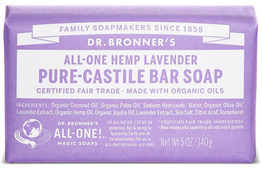 Dr. Bronner's Magic Soap Lavender Castile Bar Soap