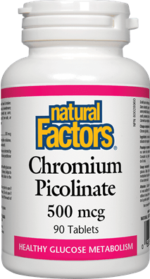 Natural Factors Chromium Picolinate 500 mcg