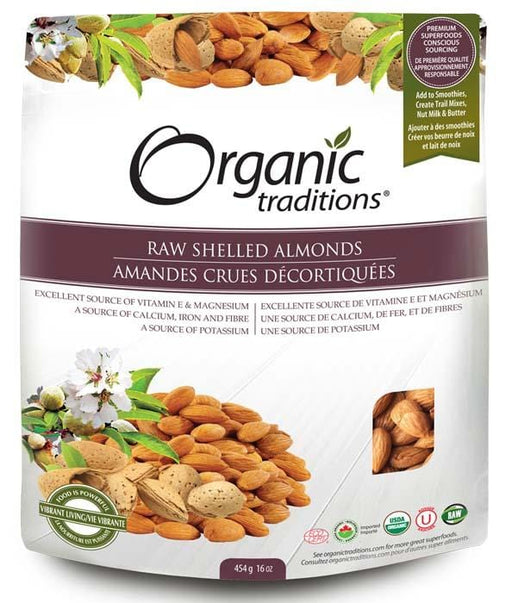 Organic Traditions Raw Shelled Almonds