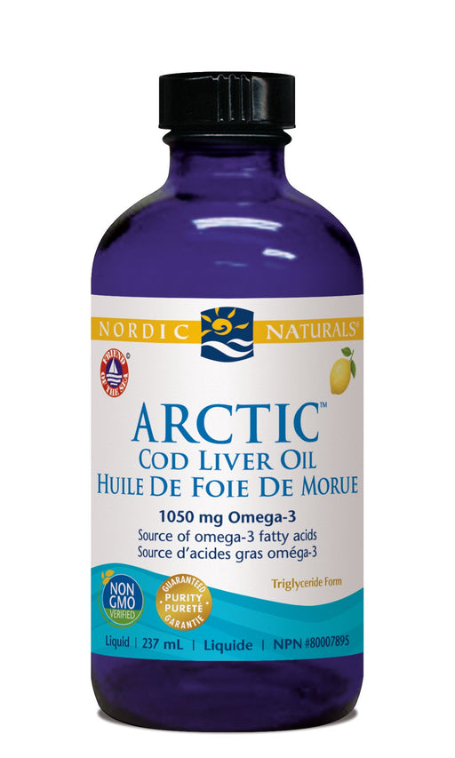 Nordic Naturals Arctic Cod Liver Oil Lemon 237 ml