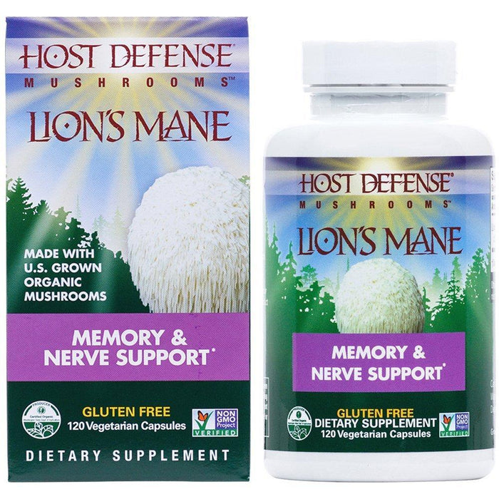 Host Defense Lion's Mane - Memory & Nerve Support 120 Capsules