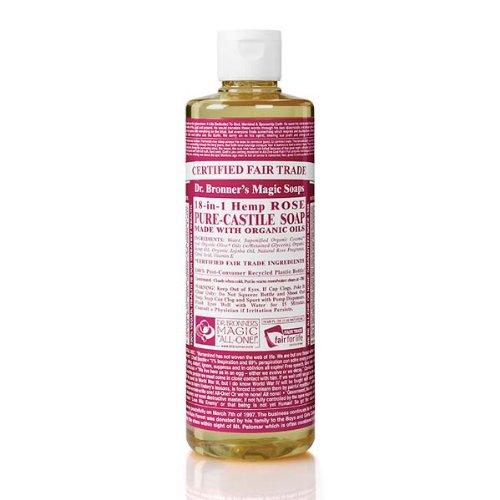 Dr. Bronner's Magic Soap Org Rose Oil Castile Soap 237 mL