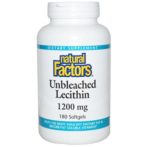 Natural Factors Unbleached Lecithin 180 Softgels