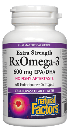 Natural Factors RxOmega-3 Extra Strength · 600 mg