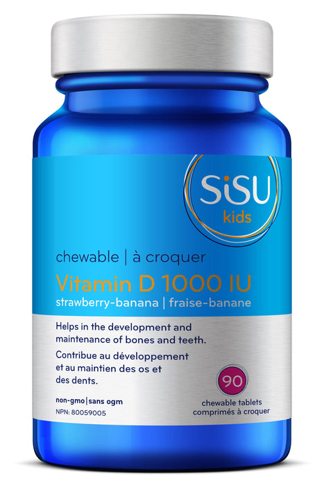Sisu Kid's Vitamin D3 1000IU - Strawberry Banana