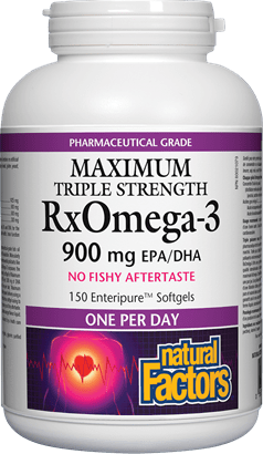 Natural Factors Maximum Triple Strength RxOMEGA-3 150 Softgels