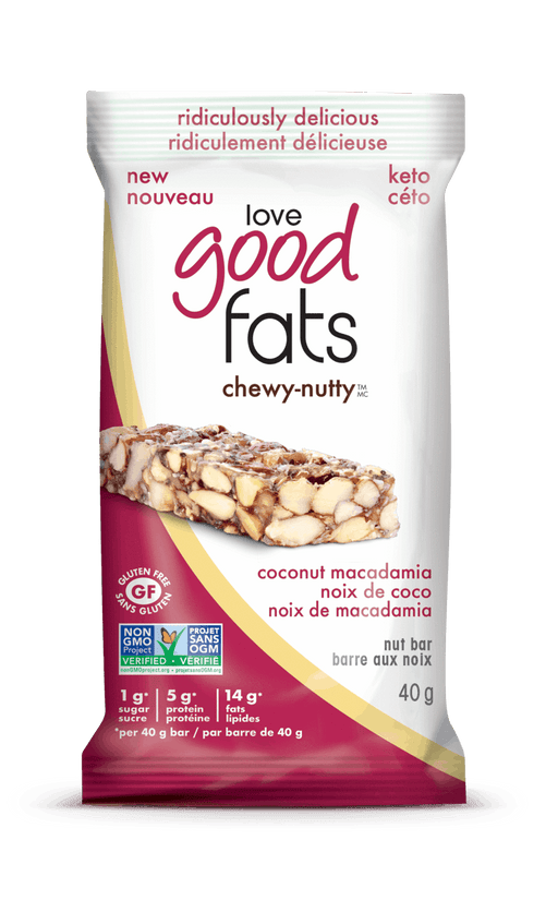 Love Good Fats Chewy-Nutty Coconut Macadamia Single Bar