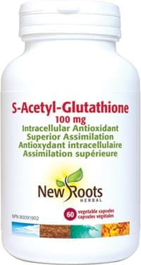 New Roots S-Acetyl-Glutathione 100 mg 60 Capsules