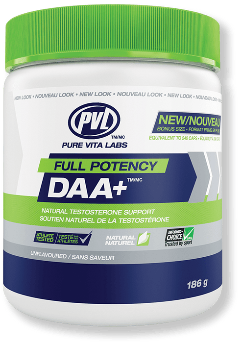 PVL Essentials Full Potency DAA+ Natural Testosterone Support
