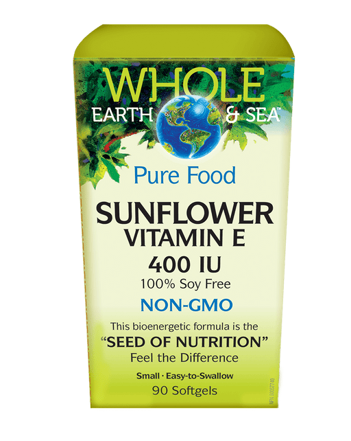 Whole Earth and Sea Pure Food Natural Factors Sunflower Vitamin E 400 IU