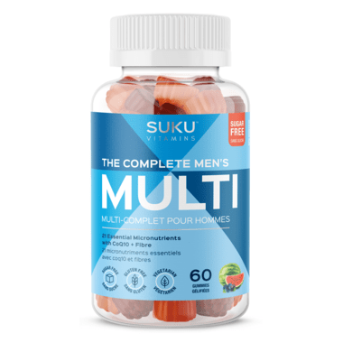 Suku Vitamins The Complete men's Multi Plus CoQ10 & Fibre 60 Gummies - Mixed Fruit Fusion Flavour