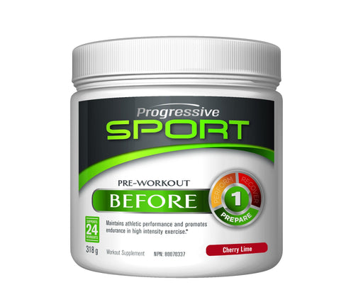 Progressive Sport Pre-Workout BEFORE Cherry Lime