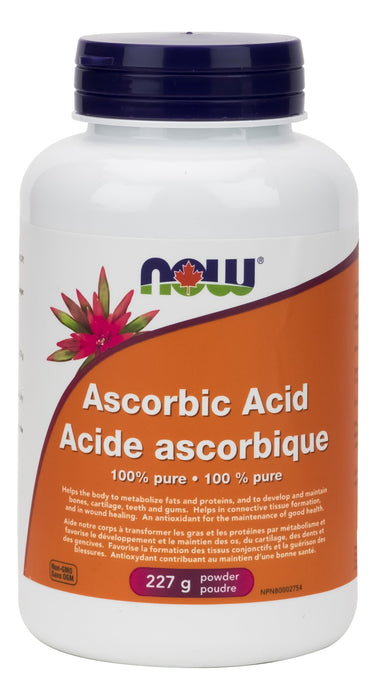 NOW Ascorbic Acid (100% Pure Vitamin C) 227 g