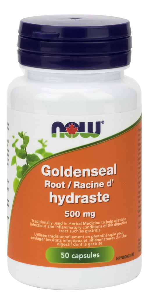 NOW Goldenseal Root 500 mg 50 Capsules