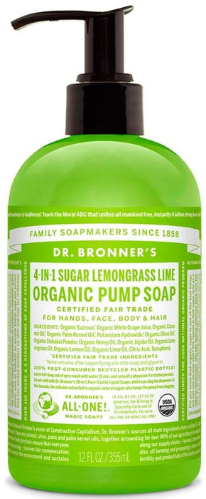 Dr. Bronner's Magic Soap Lemongrass Lime Hand Soap