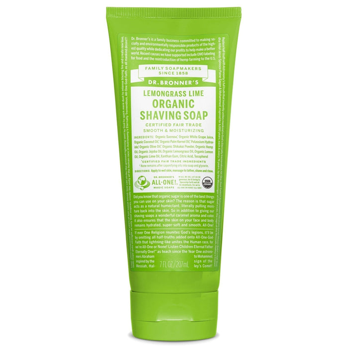 Dr. Bronner's Lemongrass Lime Organic Shaving Soap